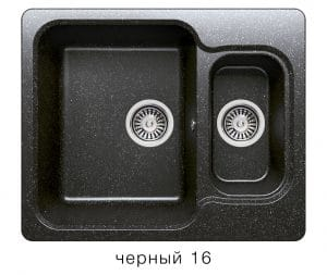 Кухонная мойка POLYGRAN F-09 из искусственного камня 61х50 см с двумя чашами 6200 рублей, фото 6 | интернет-магазин Складно