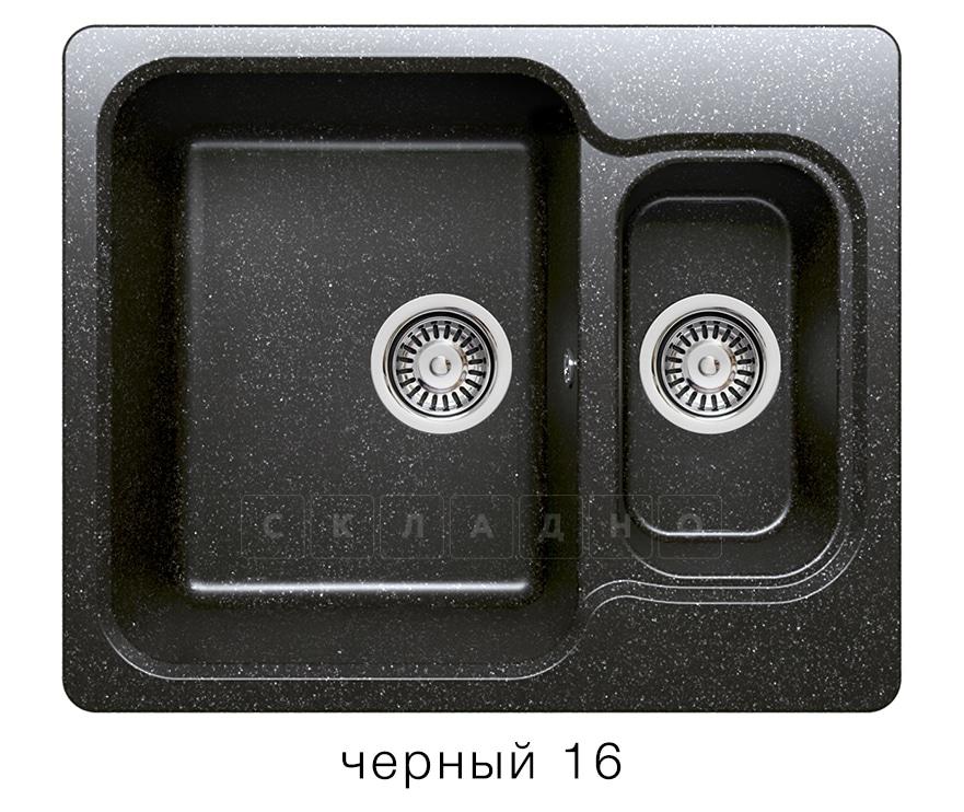 Кухонная мойка POLYGRAN F-09 из искусственного камня 61х50 см с двумя чашами фото 6 | интернет-магазин Складно