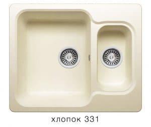 Кухонная мойка POLYGRAN F-09 из искусственного камня 61х50см с двумя чашами 6200 рублей, фото 2 | интернет-магазин Складно