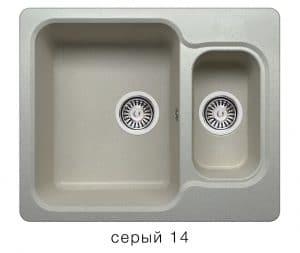 Кухонная мойка POLYGRAN F-09 из искусственного камня 61х50 см с двумя чашами 6200 рублей, фото 7 | интернет-магазин Складно