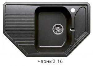 Кухонная мойка POLYGRAN F-10 из искусственного камня 80х50см угловая 6600 рублей, фото 6 | интернет-магазин Складно