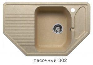 Кухонная мойка POLYGRAN F-10 из искусственного камня 80х50см угловая  6600  рублей, фото 1 | интернет-магазин Складно