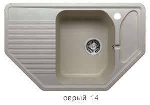 Кухонная мойка POLYGRAN F-10 из искусственного камня 80х50см угловая 6600 рублей, фото 7 | интернет-магазин Складно