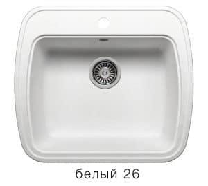 Кухонная мойка POLYGRAN F-11 из искусственного камня 57х50 см 5200 рублей, фото 5 | интернет-магазин Складно