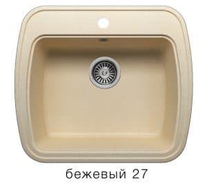 Кухонная мойка POLYGRAN F-11 из искусственного камня 57х50 см 5200 рублей, фото 4 | интернет-магазин Складно