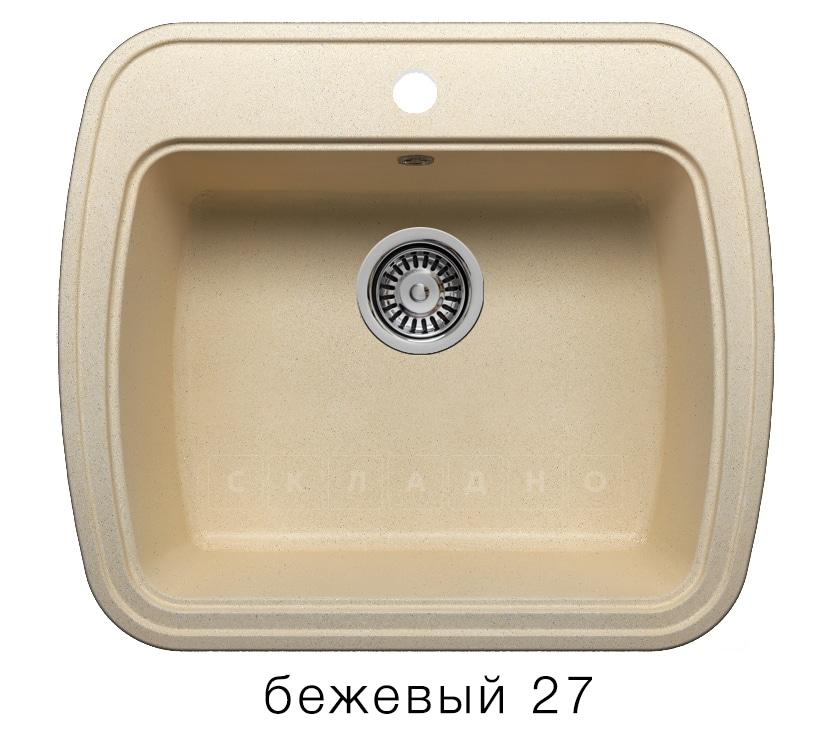 Кухонная мойка POLYGRAN F-11 из искусственного камня 57х50 см фото 4 | интернет-магазин Складно