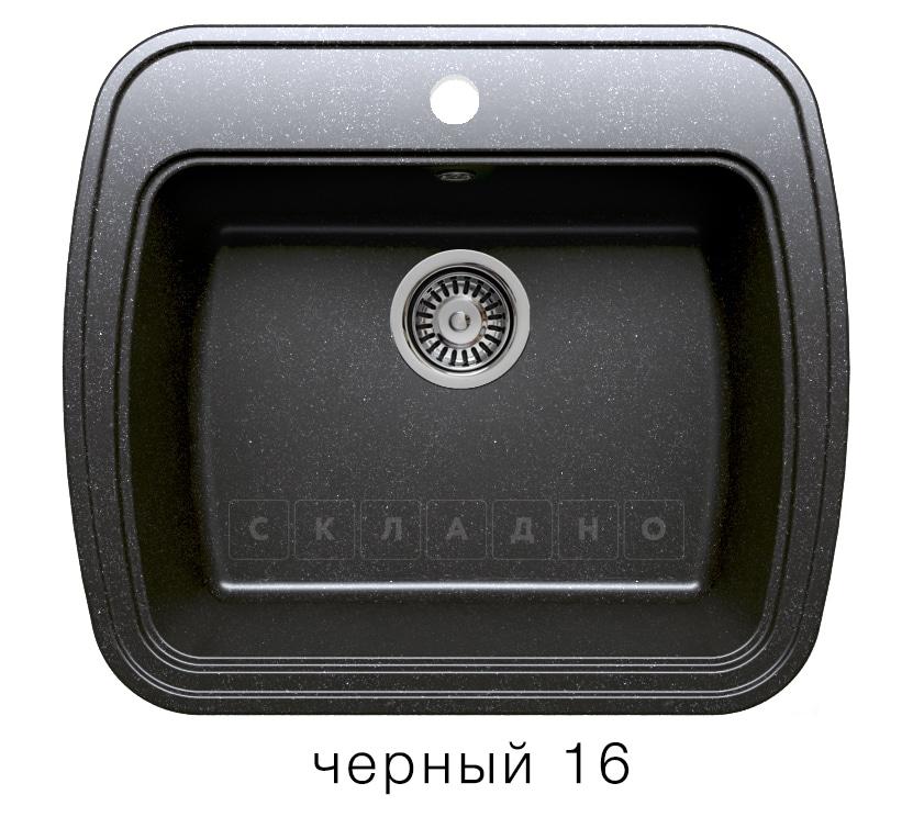 Кухонная мойка POLYGRAN F-11 из искусственного камня 57х50 см фото 6 | интернет-магазин Складно