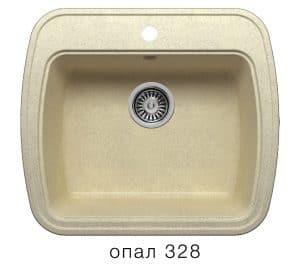 Кухонная мойка POLYGRAN F-11 из искусственного камня 57х50 см 5200 рублей, фото 3 | интернет-магазин Складно