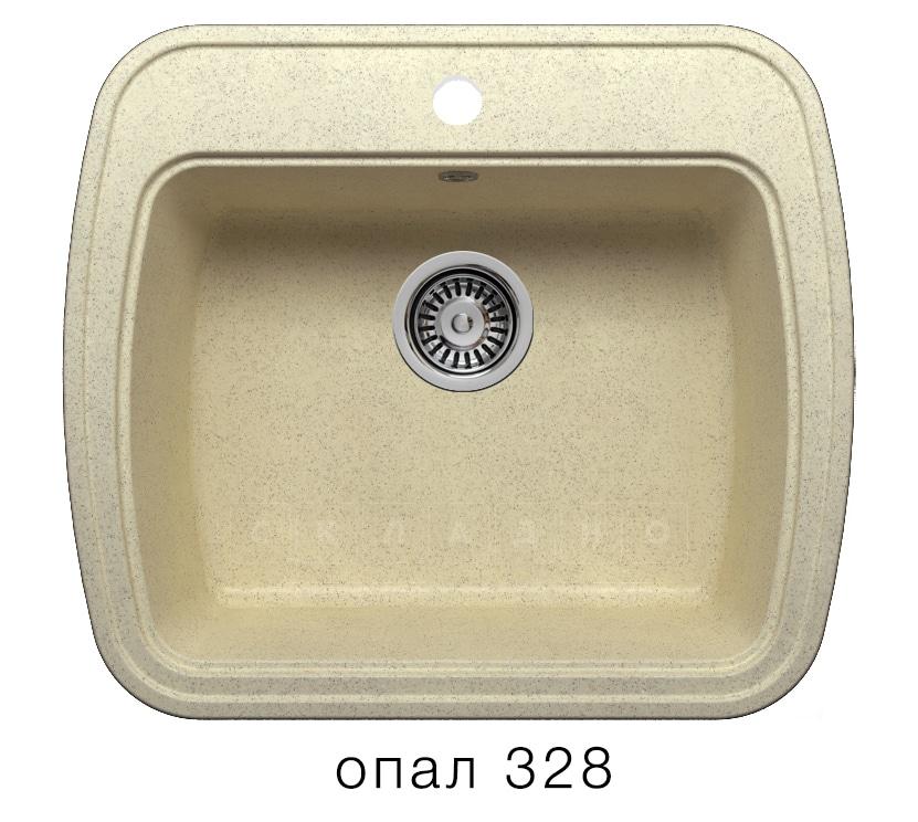 Кухонная мойка POLYGRAN F-11 из искусственного камня 57х50 см фото 3 | интернет-магазин Складно
