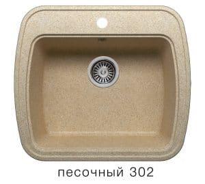 Кухонная мойка POLYGRAN F-11 из искусственного камня 57х50 см  5200  рублей, фото 1 | интернет-магазин Складно