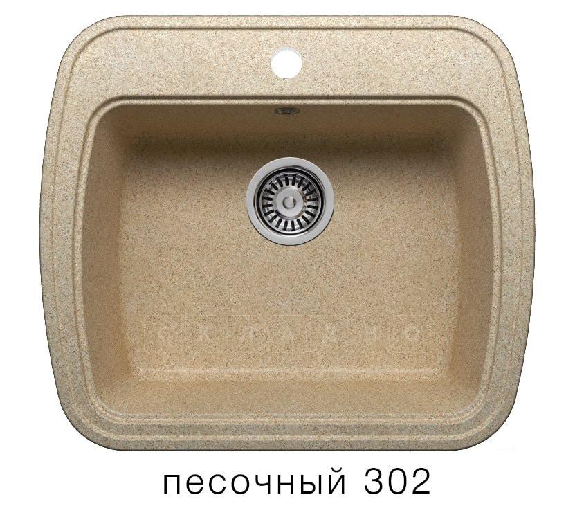 Кухонная мойка POLYGRAN F-11 из искусственного камня 57х50 см фото 1 | интернет-магазин Складно