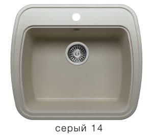 Кухонная мойка POLYGRAN F-11 из искусственного камня 57х50 см 5200 рублей, фото 7 | интернет-магазин Складно