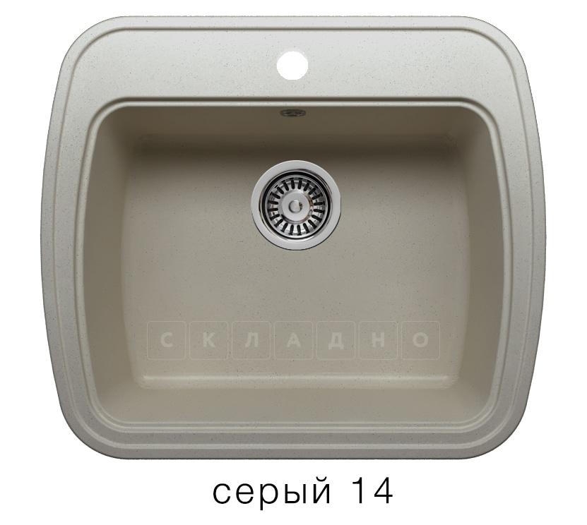 Кухонная мойка POLYGRAN F-11 из искусственного камня 57х50 см фото 7 | интернет-магазин Складно