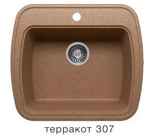 Кухонная мойка POLYGRAN F-11 из искусственного камня 57х50 см 5200 рублей, фото 8 | интернет-магазин Складно
