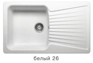Кухонная мойка POLYGRAN F-12 из искусственного камня 85х50см 6200 рублей, фото 5 | интернет-магазин Складно