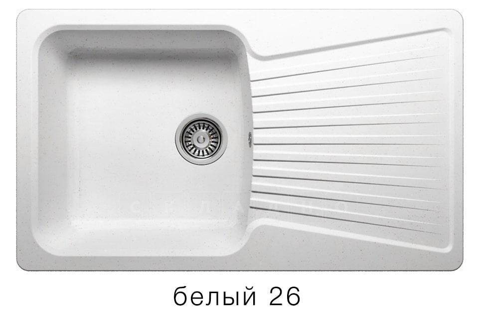 Кухонная мойка POLYGRAN F-12 из искусственного камня 85х50см фото 5 | интернет-магазин Складно