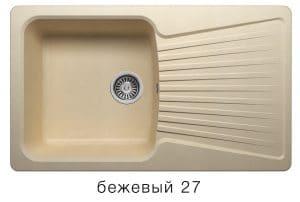 Кухонная мойка POLYGRAN F-12 из искусственного камня 85х50см 6200 рублей, фото 4 | интернет-магазин Складно