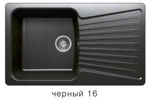 Кухонная мойка POLYGRAN F-12 из искусственного камня 85х50см 6200 рублей, фото 6 | интернет-магазин Складно