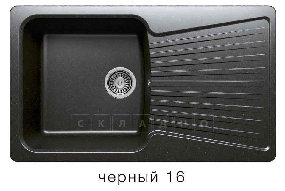 Кухонная мойка POLYGRAN F-12 из искусственного камня 85х50см фото 6 | интернет-магазин Складно
