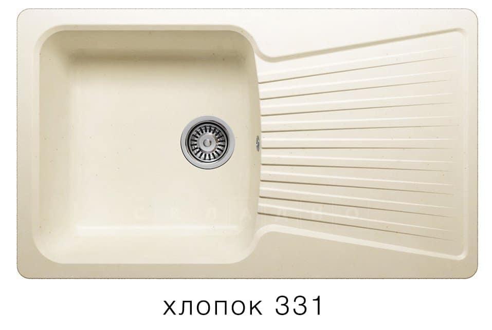 Кухонная мойка POLYGRAN F-12 из искусственного камня 85х50см фото 2 | интернет-магазин Складно