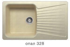 Кухонная мойка POLYGRAN F-12 из искусственного камня 85х50см 6200 рублей, фото 3 | интернет-магазин Складно