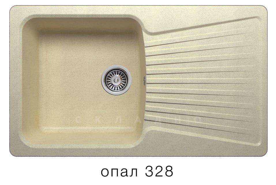 Кухонная мойка POLYGRAN F-12 из искусственного камня 85х50см фото 3 | интернет-магазин Складно