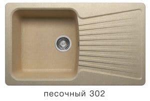 Кухонная мойка POLYGRAN F-12 из искусственного камня 85х50см  6200  рублей, фото 1 | интернет-магазин Складно