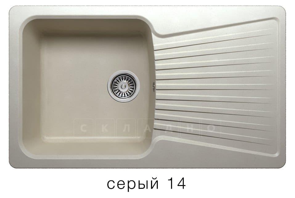 Кухонная мойка POLYGRAN F-12 из искусственного камня 85х50см фото 7 | интернет-магазин Складно