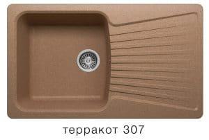 Кухонная мойка POLYGRAN F-12 из искусственного камня 85х50см 6200 рублей, фото 8 | интернет-магазин Складно