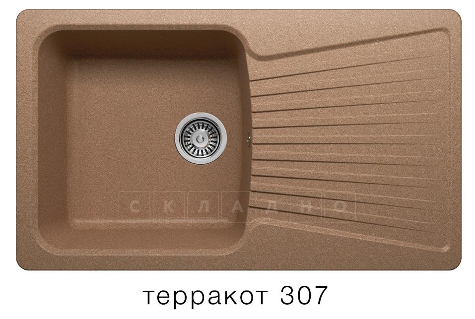 Кухонная мойка POLYGRAN F-12 из искусственного камня 85х50см фото 8 | интернет-магазин Складно