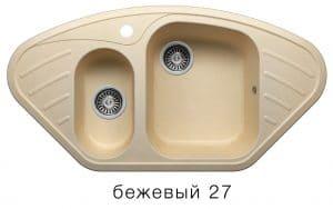 Кухонная мойка POLYGRAN F-14 из искусственного камня 96х51 см угловая 7000 рублей, фото 4 | интернет-магазин Складно