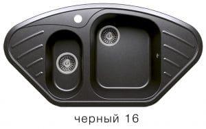 Кухонная мойка POLYGRAN F-14 из искусственного камня 96х51 см угловая 7000 рублей, фото 6 | интернет-магазин Складно