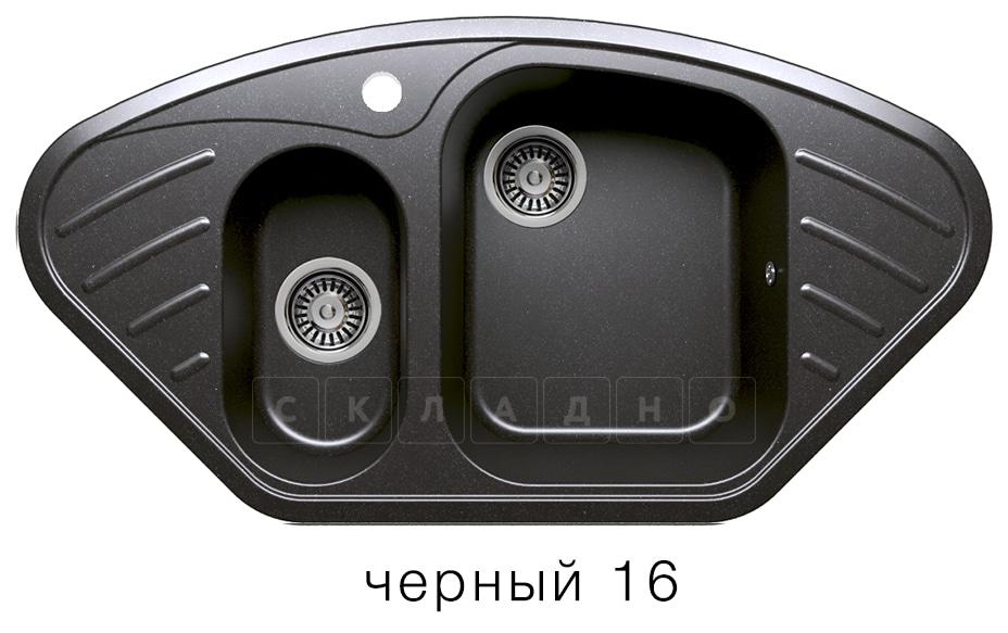 Кухонная мойка POLYGRAN F-14 из искусственного камня 96х51 см угловая фото 6 | интернет-магазин Складно