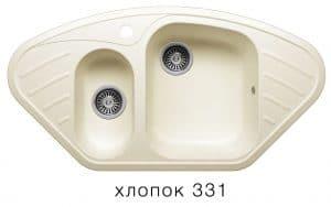 Кухонная мойка POLYGRAN F-14 из искусственного камня 96х51 см угловая 7000 рублей, фото 2 | интернет-магазин Складно