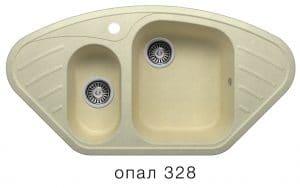 Кухонная мойка POLYGRAN F-14 из искусственного камня 96х51 см угловая 7000 рублей, фото 3 | интернет-магазин Складно
