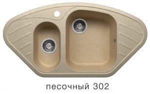 Кухонная мойка POLYGRAN F-14 из искусственного камня 96х51 см угловая  7000  рублей, фото 1 | интернет-магазин Складно