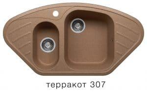 Кухонная мойка POLYGRAN F-14 из искусственного камня 96х51 см угловая 7000 рублей, фото 8 | интернет-магазин Складно