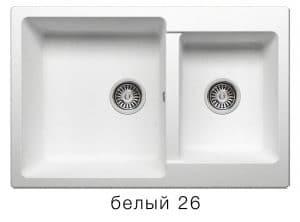 Кухонная мойка POLYGRAN F-15 из искусственного камня 77х50 см с двумя чашами 7200 рублей, фото 5 | интернет-магазин Складно