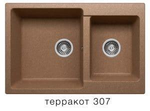 Кухонная мойка POLYGRAN F-15 из искусственного камня 77х50 см с двумя чашами 7200 рублей, фото 8 | интернет-магазин Складно