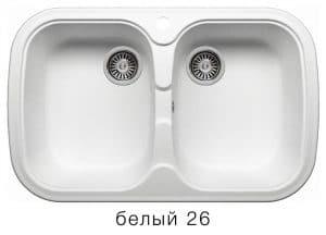 Кухонная мойка POLYGRAN F-150 из искусственного камня 80х51см с двумя чашами 7000 рублей, фото 5 | интернет-магазин Складно