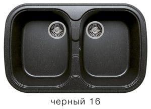 Кухонная мойка POLYGRAN F-150 из искусственного камня 80х51см с двумя чашами 7000 рублей, фото 6 | интернет-магазин Складно