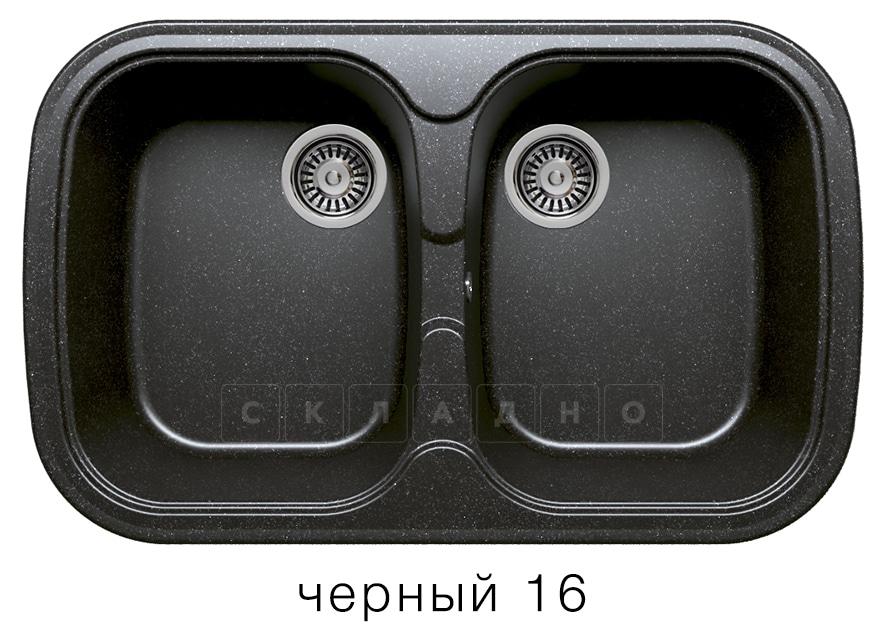 Кухонная мойка POLYGRAN F-150 из искусственного камня 80х51см с двумя чашами фото 6 | интернет-магазин Складно
