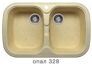 Кухонная мойка POLYGRAN F-150 из искусственного камня 80х51см с двумя чашами 7000 рублей, фото 3 | интернет-магазин Складно