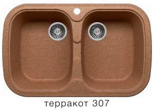 Кухонная мойка POLYGRAN F-150 из искусственного камня 80х51см с двумя чашами 7000 рублей, фото 8 | интернет-магазин Складно