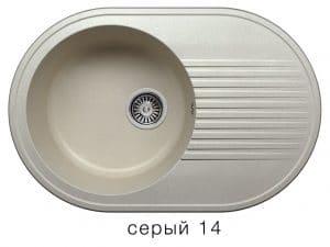 Кухонная мойка POLYGRAN F-16 из искусственного камня 76х50 см овальная 5600 рублей, фото 7 | интернет-магазин Складно