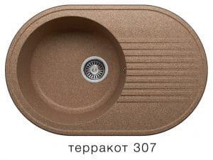 Кухонная мойка POLYGRAN F-16 из искусственного камня 76х50 см овальная 5600 рублей, фото 8 | интернет-магазин Складно