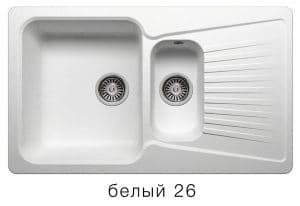 Кухонная мойка POLYGRAN F-18 из искусственного камня 85х50см с двумя чашами 7600 рублей, фото 5 | интернет-магазин Складно