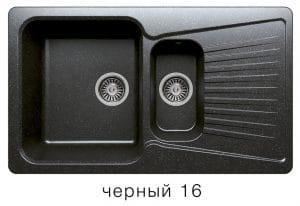 Кухонная мойка POLYGRAN F-18 из искусственного камня 85х50см с двумя чашами 7600 рублей, фото 6 | интернет-магазин Складно