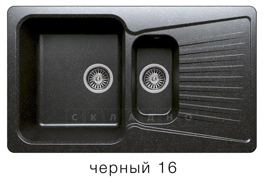 Кухонная мойка POLYGRAN F-18 из искусственного камня 85х50см с двумя чашами фото 6 | интернет-магазин Складно