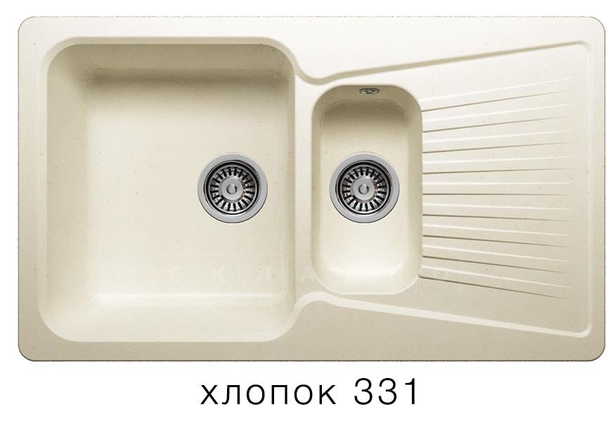 Кухонная мойка POLYGRAN F-18 из искусственного камня 85х50см с двумя чашами фото 2 | интернет-магазин Складно